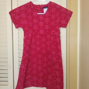 Mere Michelle Red Floral Dress Fits Girl Size 8